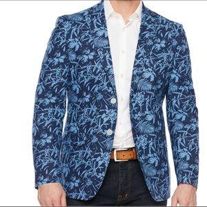 IZOD Mens Blue Palm Classic Sport Coat  Size 52